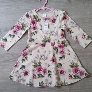 Nwt Gap fall winter fit flare floral A-line dress